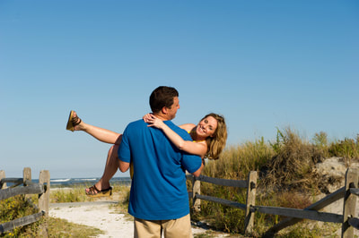 Summer engagement session at New Jersey Beach