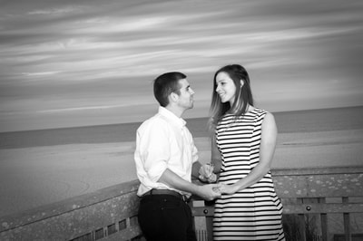 Engagement session at Cape May lighthouse