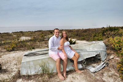 Engagement session at Cape May on the beach
