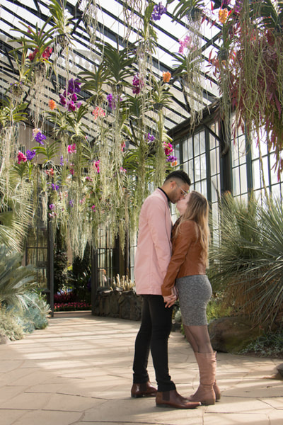 Proposal engagement session at Longwood Gardens