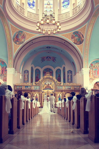 Ukrainian wedding ceremony in Philadelphia, PA