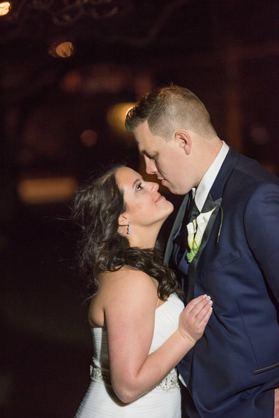 New Jersey wedding night portrait at Collingswood Ballroom