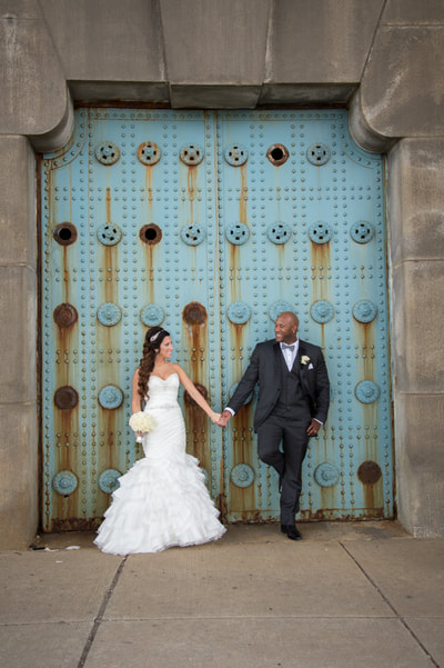 Center City Philadelphia wedding portrait