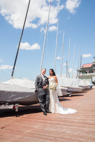 Riverton Yacht Club wedding portrait New Jersey