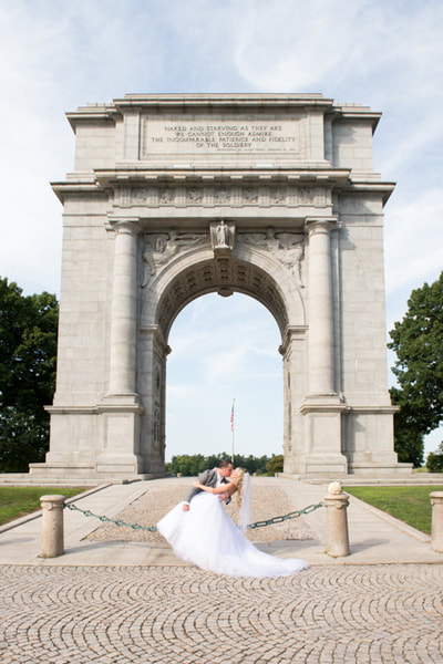 Valley Forge bridal portrait