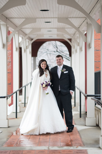 Winter wedding portrait Bucks County PA