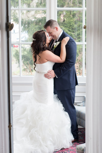 Bride and Groom at Collingswood Ballroom NJ