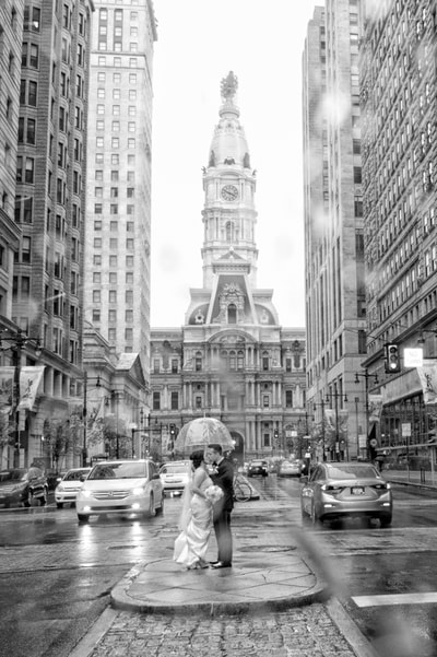 Broad Street City Hall Wedding Portrait
