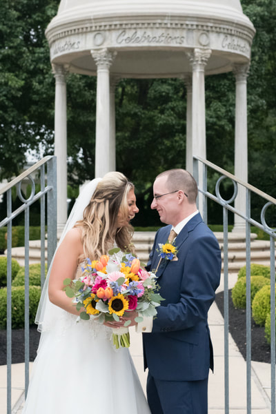 Laughing wedding portrait at Celebrations Bensalem PA