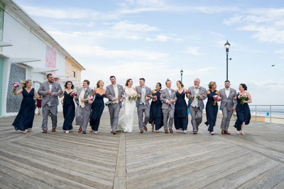 Asbury Park New Jersey Wedding Party