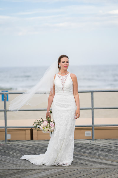 Asbury Park New Jersey wedding bride