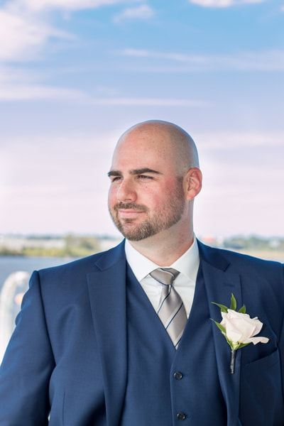 Groom portrait at Riverton Yacht Club New Jersey
