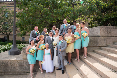 Bridal Party at Art Museum of Philadelphia