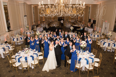 Regal Ballroom Philadelphia PA bridal party portrait