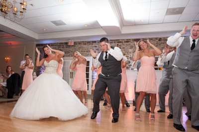 Flash Mob dancing at wedding in Horsham, PA