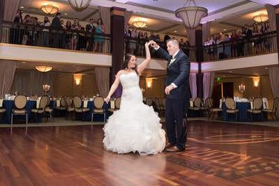 First dance at wedding at Collingswood Grand Ballroom New Jersey